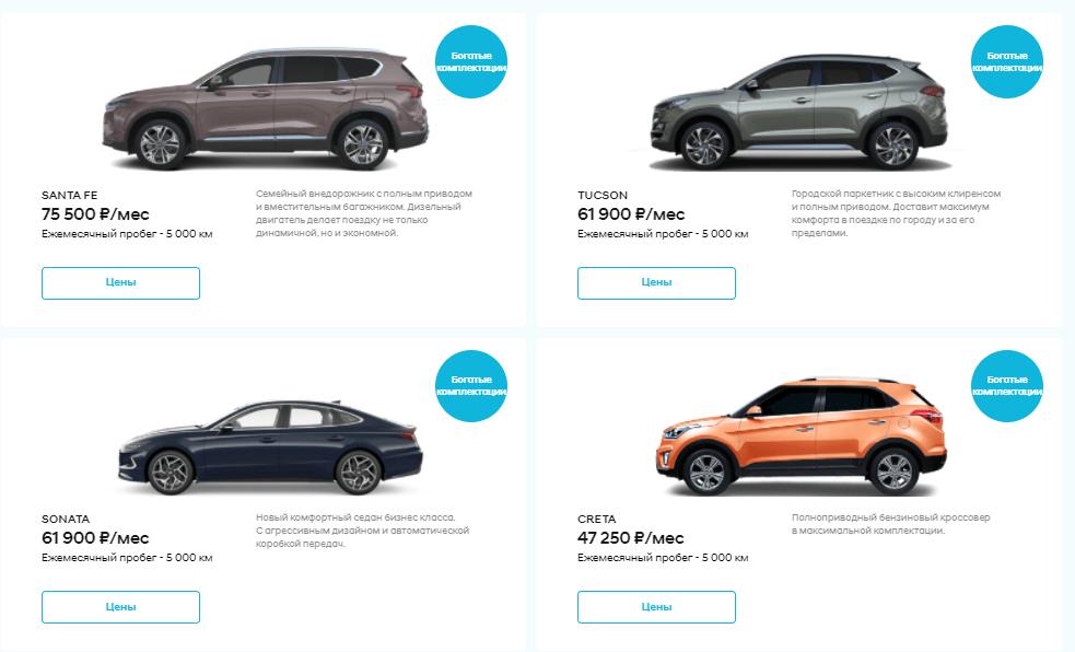 подписка на авто цены 2021
